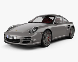 3D model of Porsche 911 Turbo Coupe 2011