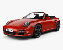 3D model of Porsche 911 Turbo Cabriolet 2011