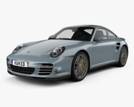 3D model of Porsche 911 Turbo S Coupe 2011