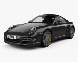 3D model of Porsche 911 Turbo S Cabriolet 2011