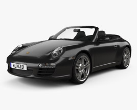 3D model of Porsche 911 Carrera Black Edition Cabriolet 2011