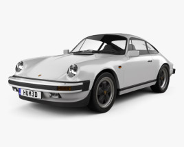 3D model of Porsche 911 Carrera Coupe 1987