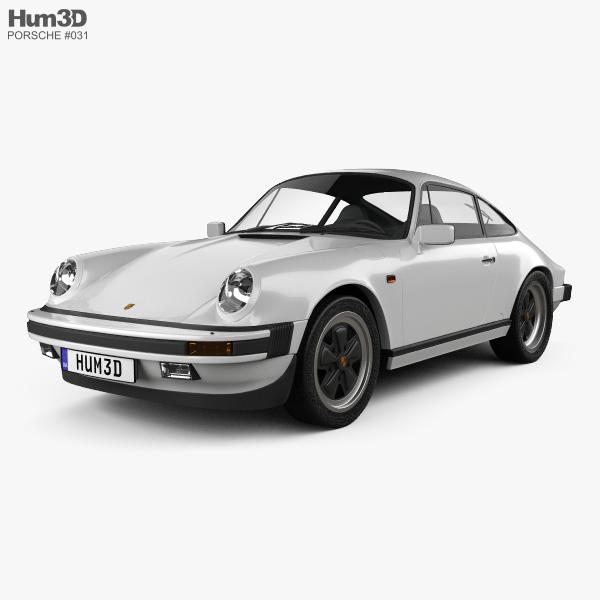 Porsche 911 Carrera Coupe 1987 3D model