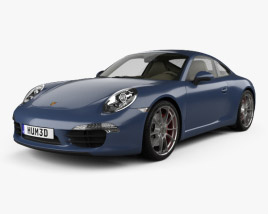 3D model of Porsche 911 Carrera S Coupe 2012
