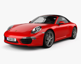 3D model of Porsche 911 Carrera Cabriolet 2012