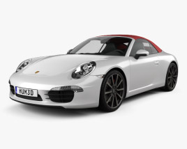 3D model of Porsche 911 Carrera S Cabriolet 2012