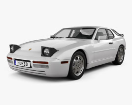 3D model of Porsche 944 coupe 1991