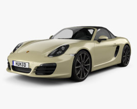 3D model of Porsche Boxster S 981 2013