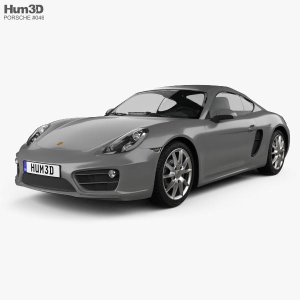 3D model of Porsche Cayman 2013