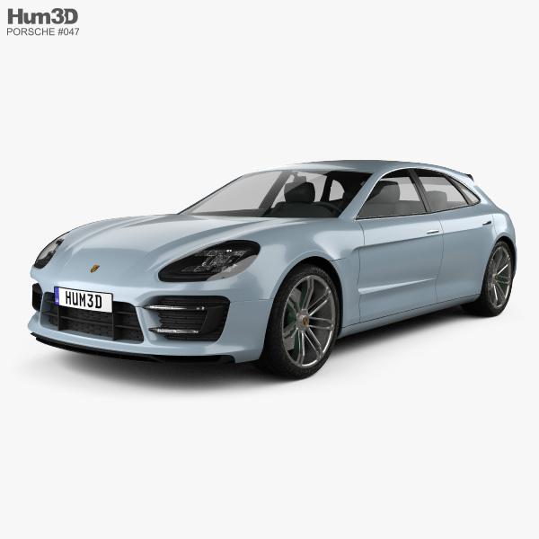 Porsche Panamera Sport Turismo 2012 3D model