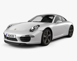 3D model of Porsche 911 (991) Carrera 50th Anniversary Edition 2013