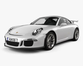 3D model of Porsche 911 (991) Carrera GTR3 2013