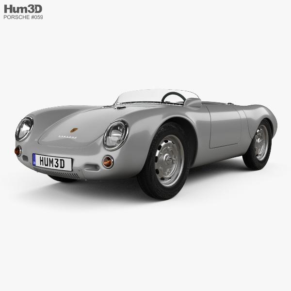Porsche 550 spyder 1953 3D model