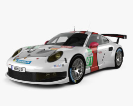 3D model of Porsche 911 Carrera (991) RSR 2013