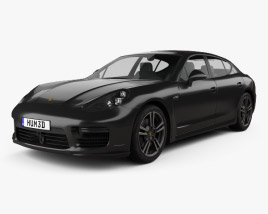 3D model of Porsche Panamera Turbo 2014