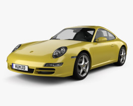 3D model of Porsche 911 Carrera (997) 2005