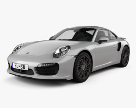 3D model of Porsche 911 Carrera (991) Turbo 2012