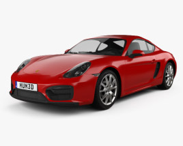 3D model of Porsche Cayman GTS 2014