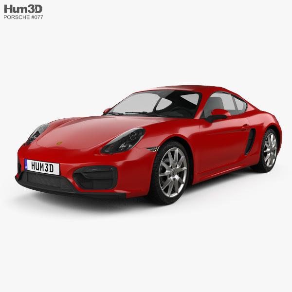 3D model of Porsche Cayman GTS 2014