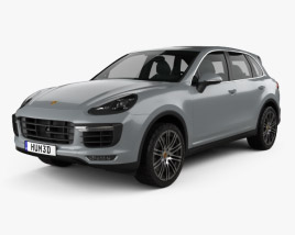 3D model of Porsche Cayenne Turbo 2014