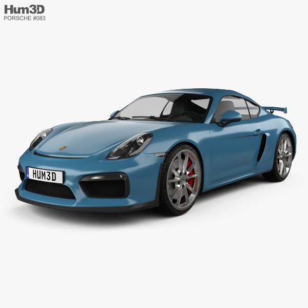 3D model of Porsche Cayman GT4 2014