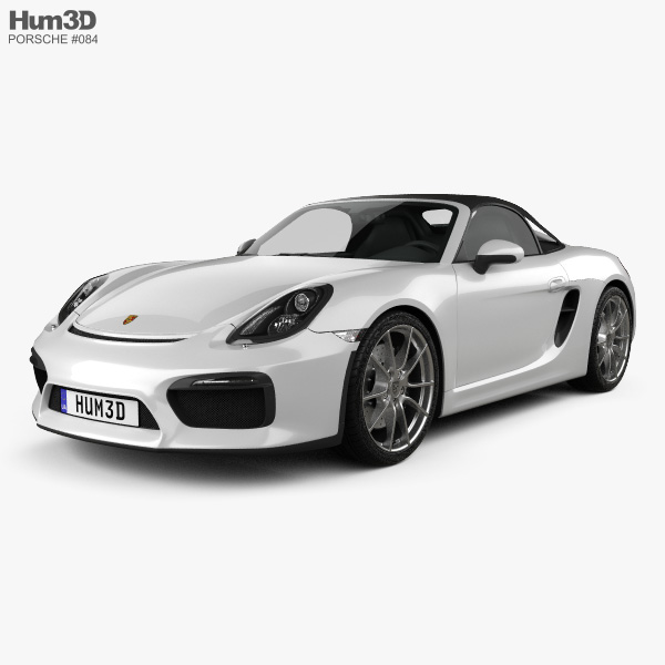 3D model of Porsche Boxster 981 Spyder 2016