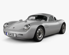 3D model of Porsche 550 Vintech coupe 2012