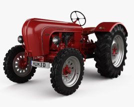 3D model of Porsche Diesel Tractor P 133 1956