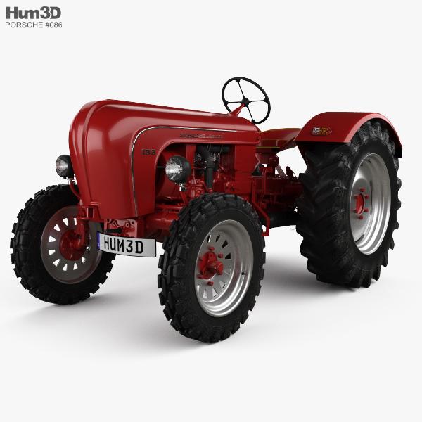 Porsche Diesel Tractor P 133 1956 3D model