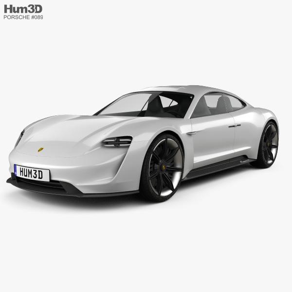 Porsche Mission E 2015 3D model