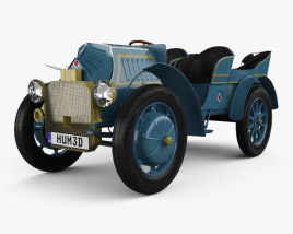 3D model of Porsche-Lohner Mixte Hybrid 1900