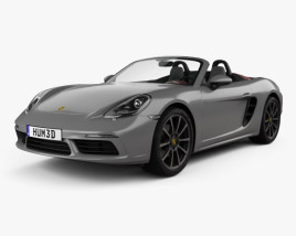 3D model of Porsche 718 Boxster 2016