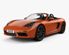 3D model of Porsche 718 Boxster S 2016