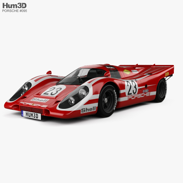 Porsche 917 K Team Salzburg 1970 3D model