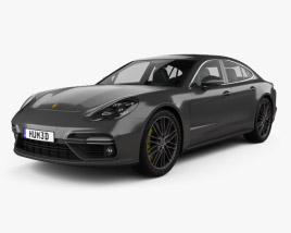 3D model of Porsche Panamera Turbo 2017