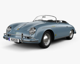 3D model of Porsche 356A 1600 Super Speedster 1955