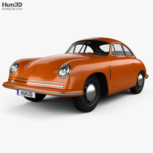 3D model of Porsche 356 Coupe 1948