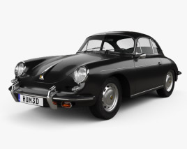 3D model of Porsche 356B Carrera 2 Coupe 1962
