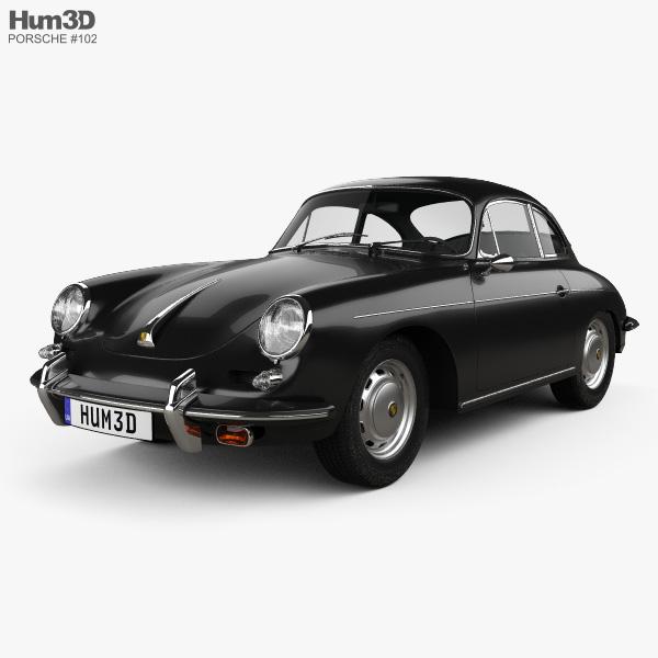 3D model of Porsche 356B Carrera 2 Coupe 1962