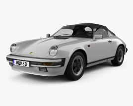 3D model of Porsche 911 Speedster (911) 1989