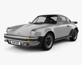 3D model of Porsche 911 Turbo (930) 1974