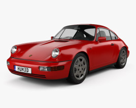 3D model of Porsche 911 Carrera 4 Coupe (964) 1989