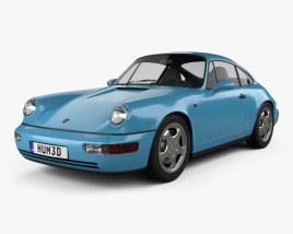 3D model of Porsche 911 Carrera RS Coupe (964) 1992