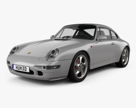 3D model of Porsche 911 Carrera 4S Coupe (993) 1997