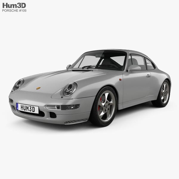 Porsche 911 Carrera 4S Coupe (993) 1997 3D model