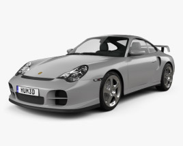 3D model of Porsche 911 GT2 Coupe (996) 2001