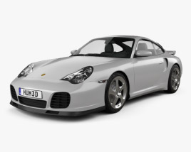 3D model of Porsche 911 Turbo Coupe (996) 2000