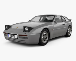 3D model of Porsche 944 Turbo 1985