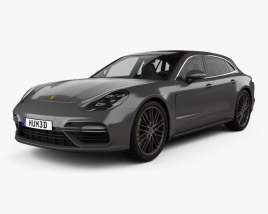 3D model of Porsche Panamera Sport Turismo Turbo 2017
