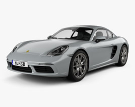 3D model of Porsche Cayman 718 (982C) 2016